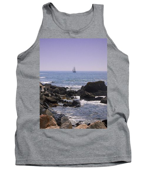 Sailboat - Maine Tank Top by Photographic Arts And Design Studio
