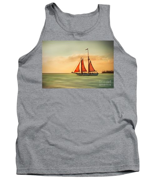 Sailing Into The Sun Tank Top by Hannes Cmarits