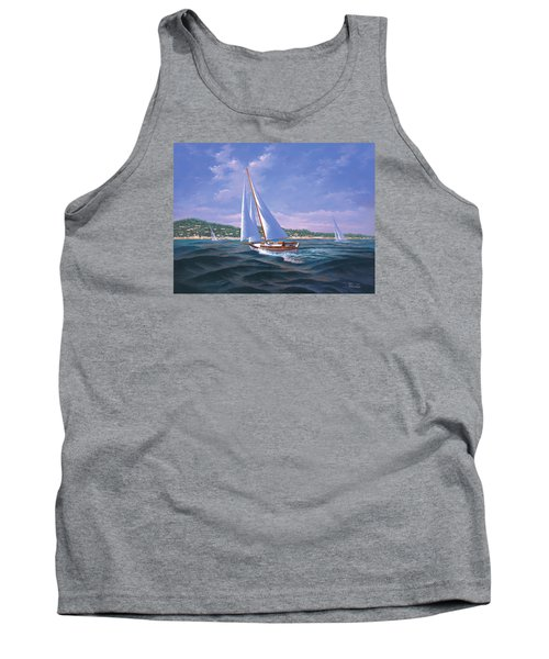 Sailing On Monterey Bay Tank Top