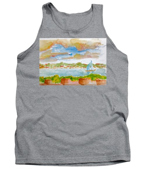 Sailing On The River Tank Top
