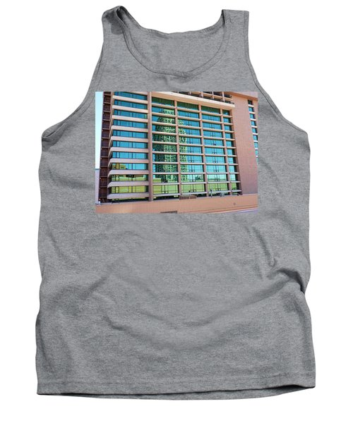 Tank Top featuring the photograph Salt Lake City Architecture Reflection by Ely Arsha