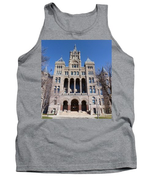 Tank Top featuring the photograph Salt Lake City - City Hall - 2 by Ely Arsha