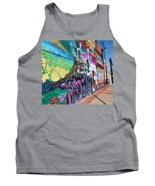 Tank Top featuring the photograph Salt Lake City - Mural 3 by Ely Arsha
