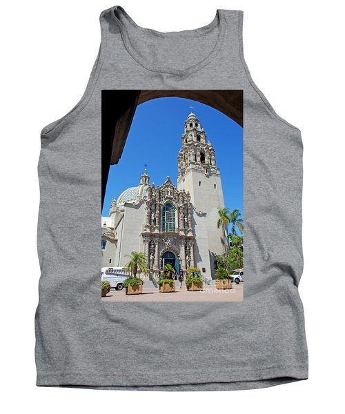 San Diego Museum Of Man Tank Top by Claudia Ellis