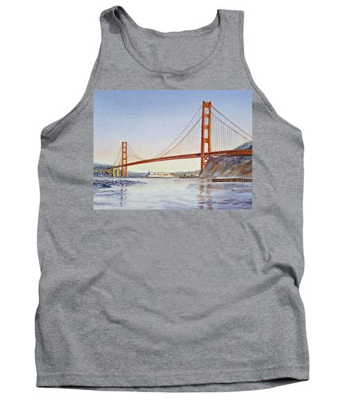 San Francisco California Golden Gate Bridge Tank Top