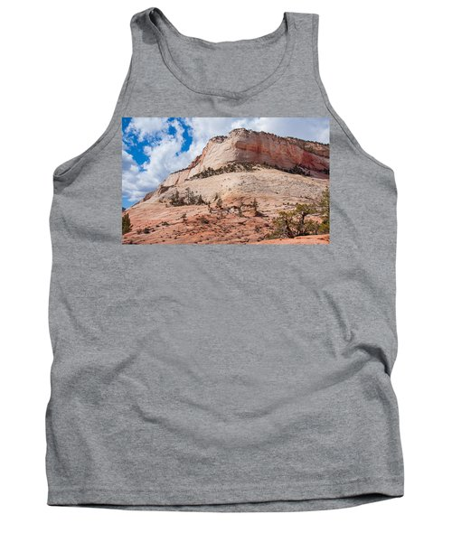 Tank Top featuring the photograph Sandstone Mountain by John M Bailey