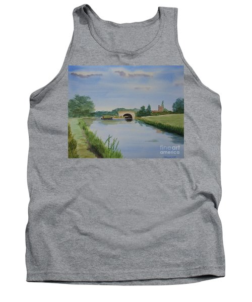 Tank Top featuring the painting Sandy Bridge by Martin Howard