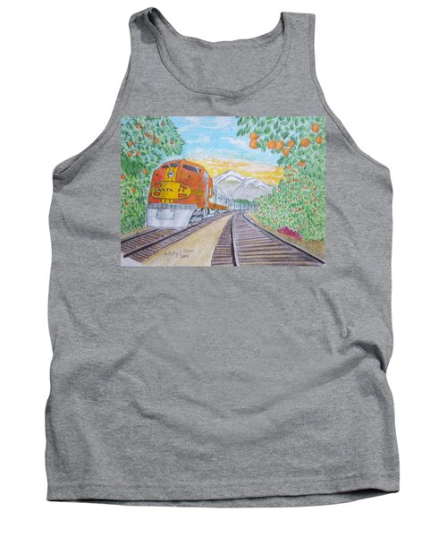 Santa Fe Super Chief Train Tank Top by Kathy Marrs Chandler