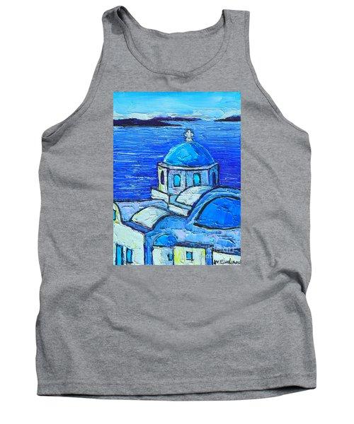 Santorini  Blue Tank Top