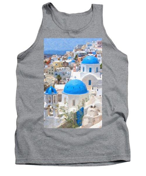 Santorini Oil Painting Tank Top