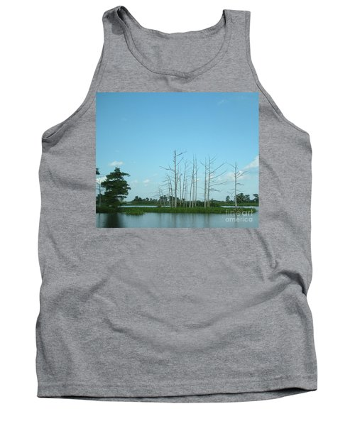 Tank Top featuring the photograph Scenic Swamp Cypress Trees by Joseph Baril