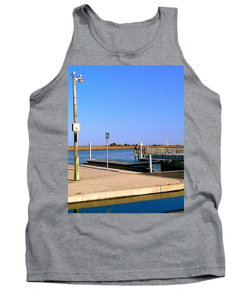 Sea Gulls Watching Over The Wetlands Tank Top by Amazing Photographs AKA Christian Wilson