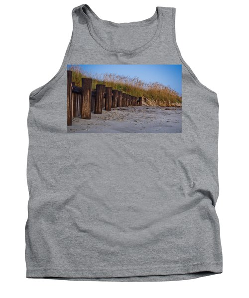 Sea Oats And Pilings Tank Top