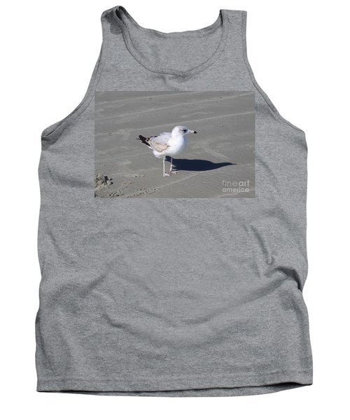 Tank Top featuring the pyrography Seagull On The Hunt by Chris Thomas