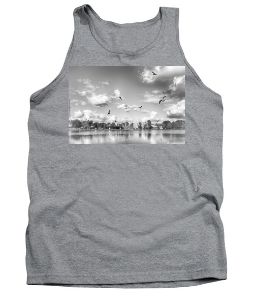 Tank Top featuring the photograph Seagulls by Howard Salmon