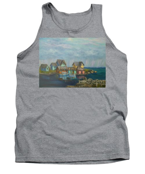 Seascape Boat Paintings Tank Top
