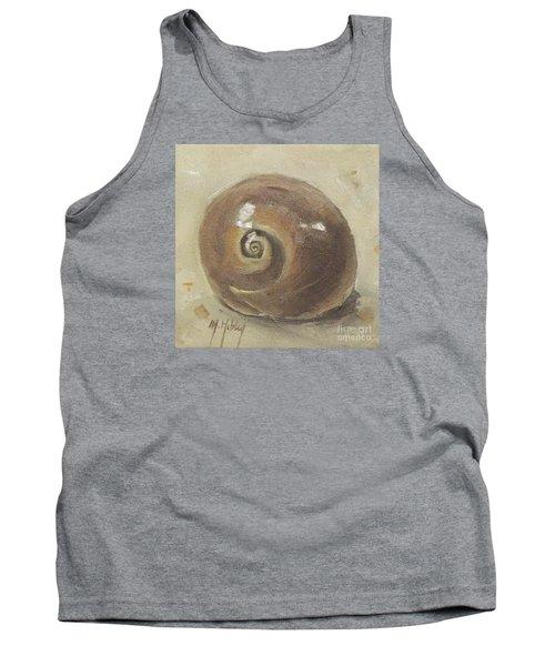 Seashell Beach Moon Shell Snail  Tank Top by Mary Hubley