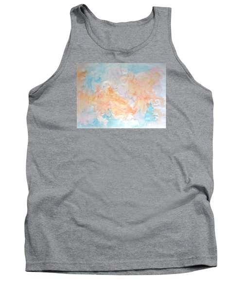 Tank Top featuring the painting Seaside In Summer by Esther Newman-Cohen