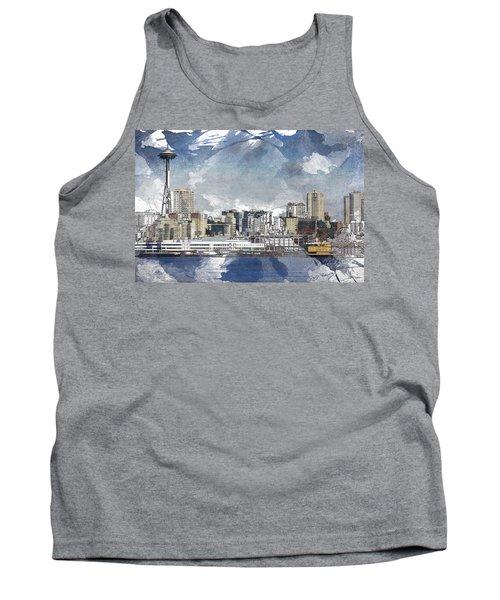 Seattle Skyline Freeform Tank Top
