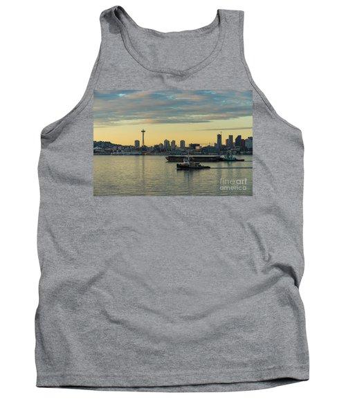 Seattles Working Harbor Tank Top by Mike Reid