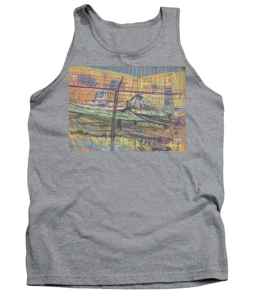 Tank Top featuring the painting Secured Planes by Donald Maier