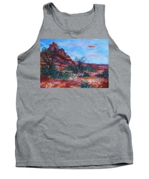 Sedona Red Rocks - Impression Of Bell Rock Tank Top by Ellen Levinson