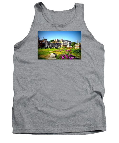 Tank Top featuring the photograph Selcuk Castle by Lou Ann Bagnall