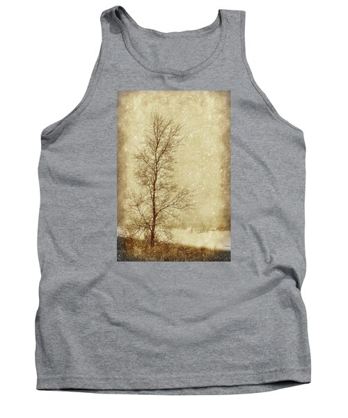 Sentinel Tree In Winter Tank Top