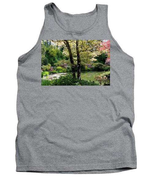 Serene Garden Retreat Tank Top