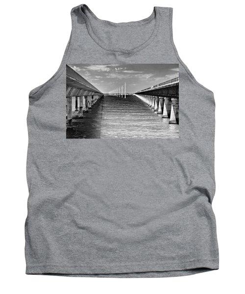 seven mile bridge BW Tank Top