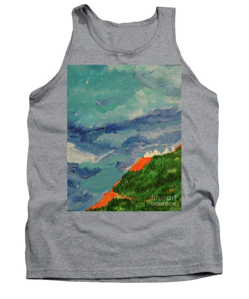 Tank Top featuring the painting Shangri-la by First Star Art