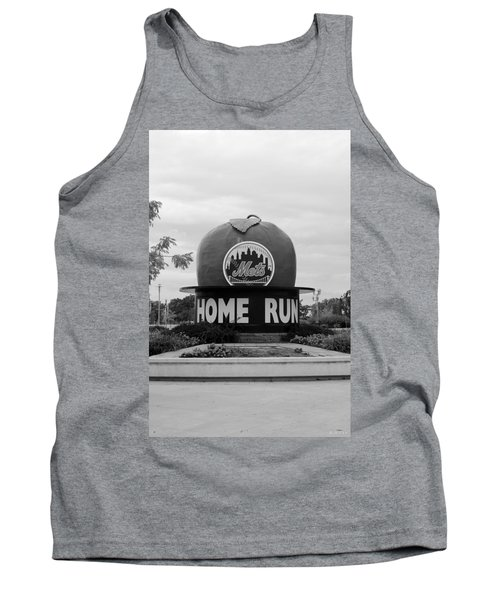 Shea Stadium Home Run Apple In Black And White Tank Top