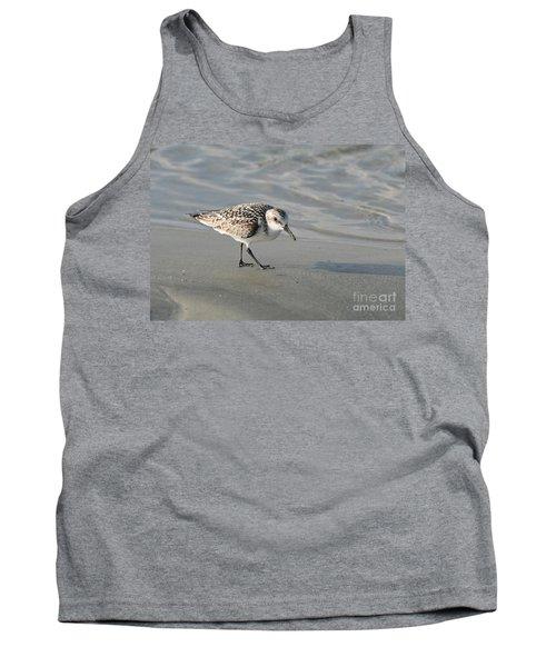 Shore Bird On Ocean Beach Tank Top