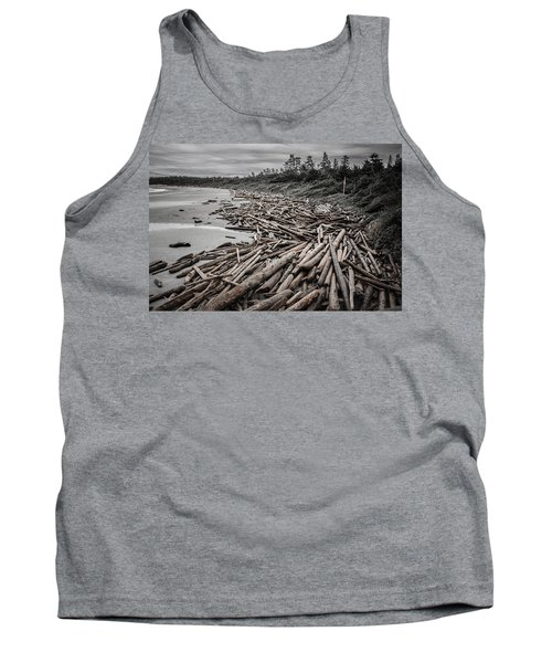 Shoved Ashore Driftwood  Tank Top by Roxy Hurtubise