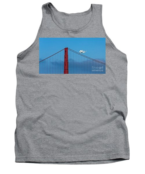 Shuttle Endeavour At The Golden Gate Tank Top