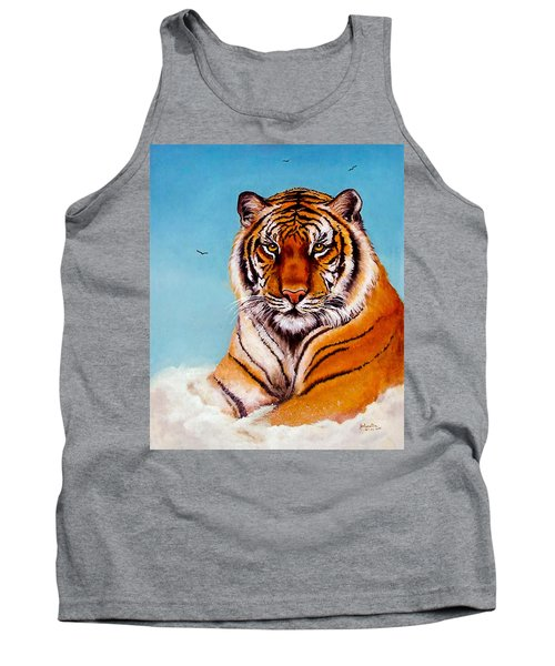 Tank Top featuring the painting Siberian King Tiger by Bob and Nadine Johnston