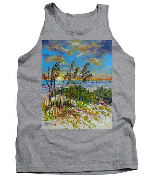 Siesta Beach Sunset Dunes Tank Top by Lou Ann Bagnall