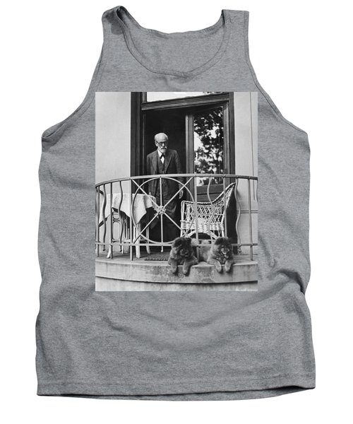 Sigmund Freud With His Chows Tank Top