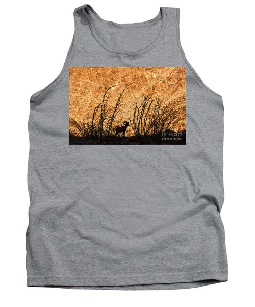 Silhouette Bighorn Sheep Tank Top