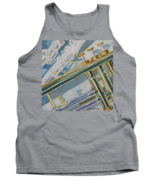 Silver And Brass Keys Tank Top