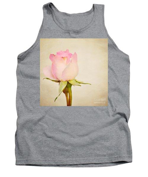 Single Baby Pink Rose Tank Top
