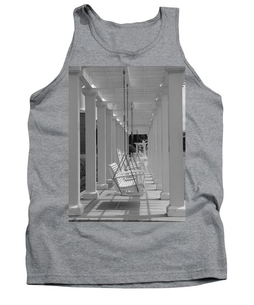 Tank Top featuring the photograph Sit A Spell by Greg Simmons