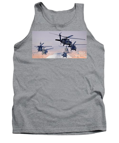 Six Uh-60l Black Hawks And Two Ch-47f Chinooks Tank Top