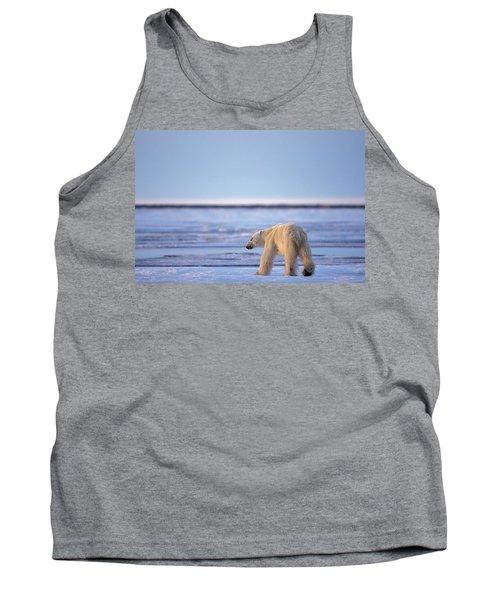 Skinny Hungry Polar Bear Walking Tank Top