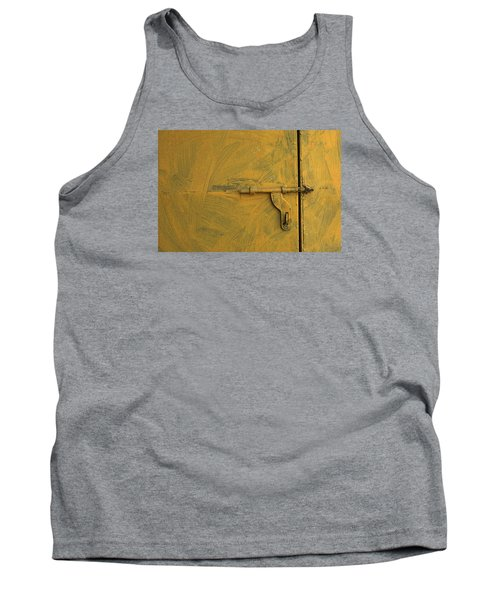 Tank Top featuring the photograph Skc 0047 The Door Latch by Sunil Kapadia