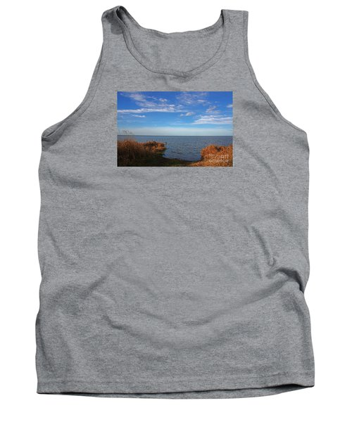 Sky Water And Grasses Tank Top by Nareeta Martin