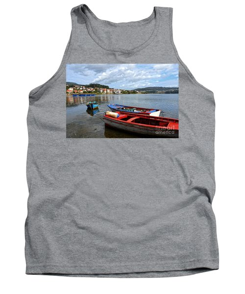 Small Boats In Galicia Tank Top