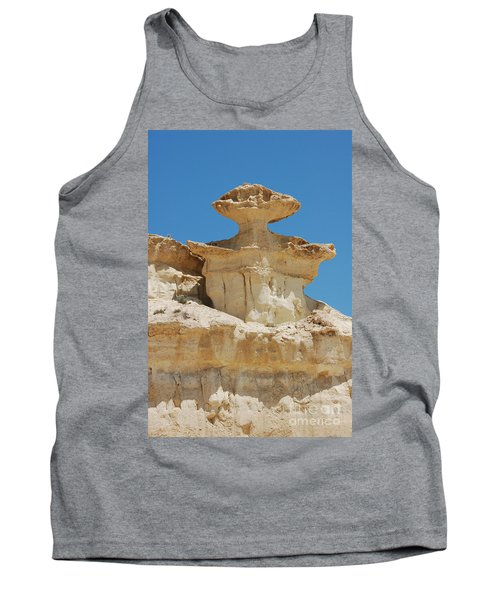 Smiling Stone Man Tank Top by Linda Prewer