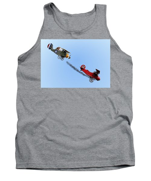 Snoopy And The Red Baron Tank Top by Kristin Elmquist
