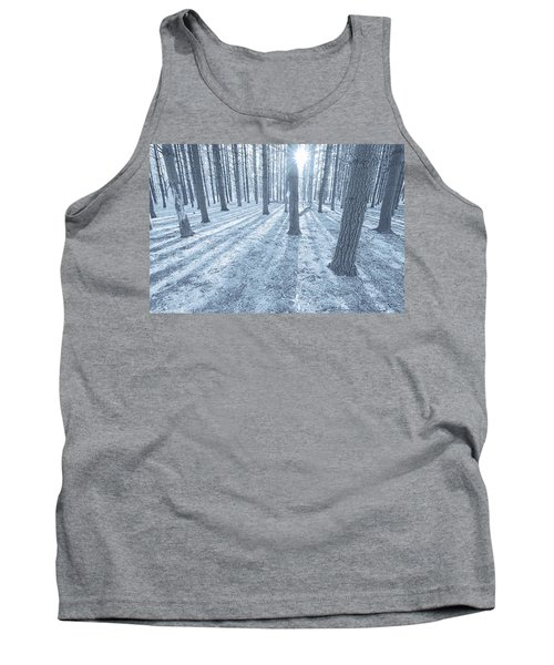 Tank Top featuring the photograph Snow Amongst The Pines by John Hansen